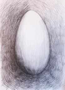 Æg med blyant, A4